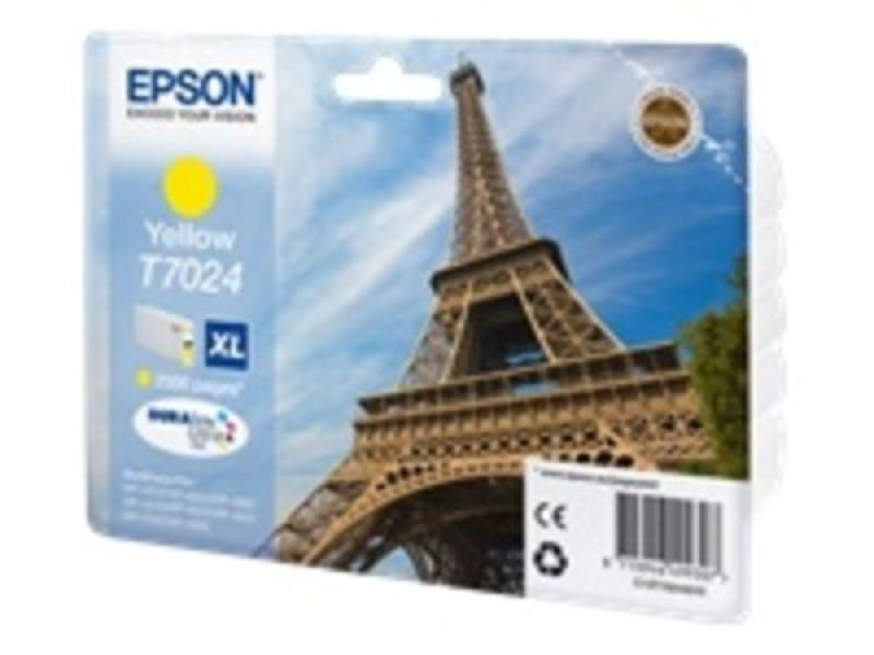 Epson T7024 Ink Cartridge. High Capacity Yellow