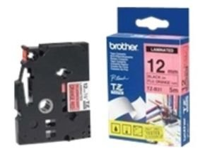 Brother TZe B31 Laminated tape- Black on Orange