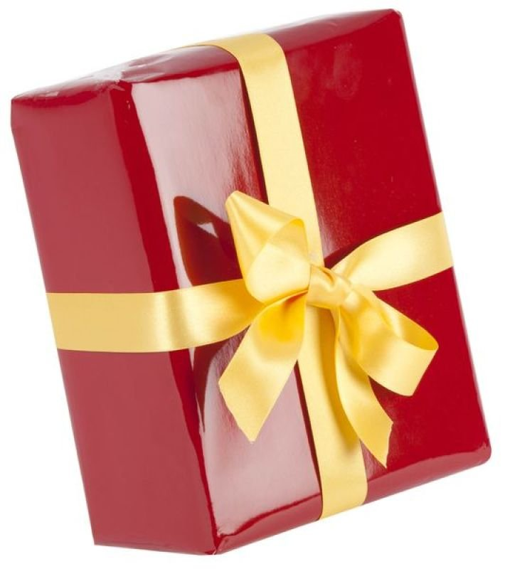 Gift Wrapping Service - Red Paper Silver Ribbon