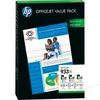 HP 933XL Value Pack Colour Ink Cartridge/ Paper Kit