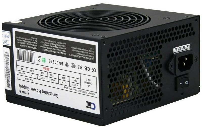 CIT Dual Rail 480W Fully Wired Efficient Power Supply