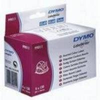 DYMO COL LABEL 28X89 ASST PK520 99011