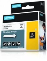 DYMO Rhino PRO Flexible Nylon Tape - Black on white