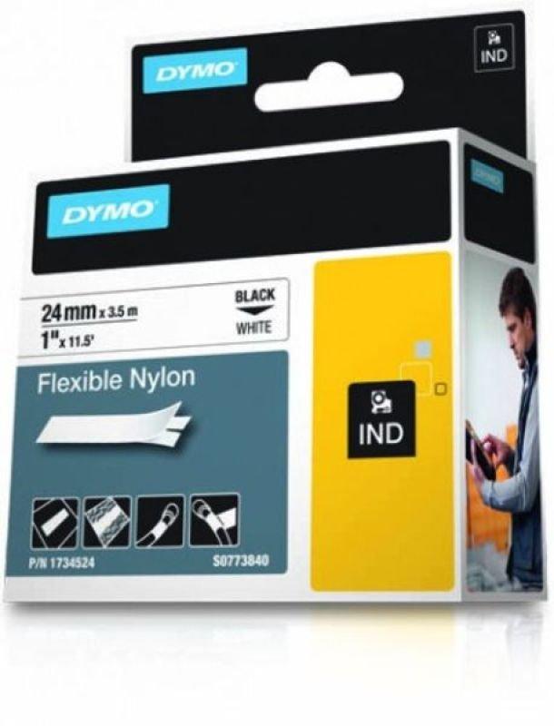DYMO Rhino PRO Flexible Nylon Tape - Black on white