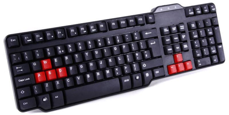 Space Saving Black Keyboard - USB - UK Layout