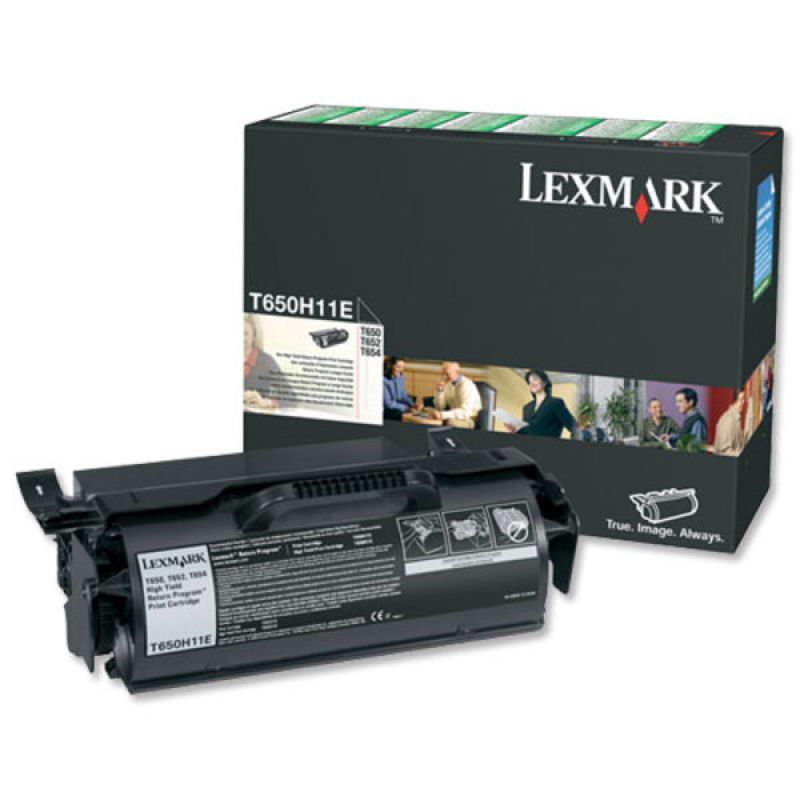 Lexmark 0X651A11E High Yield Return Black Toner Cartridge