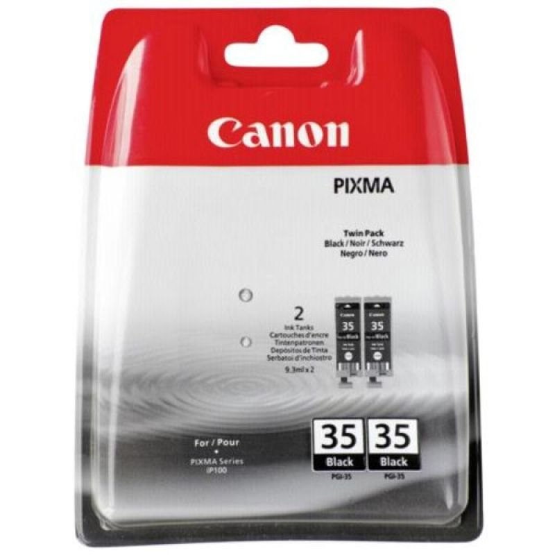 Canon PGI 35 Black Twin Pack Ink Cartridge- Blister Pack