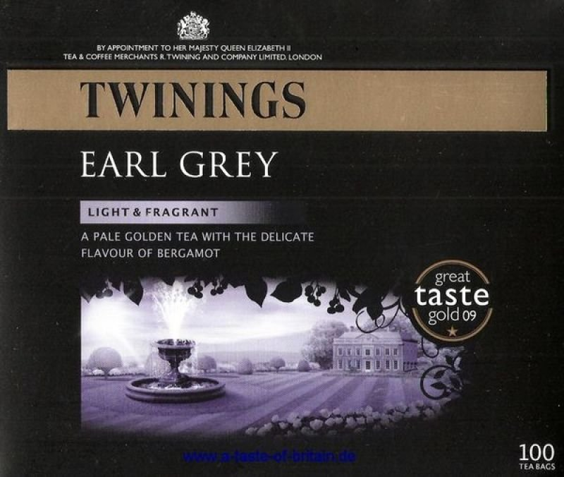Twinings Earl Grey Tea Bag - 100 Pack