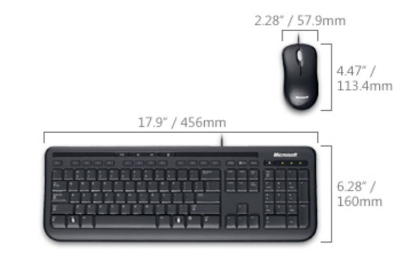 Ms Wired Desktop 600 Keyboard Mouse Black Usb : microsoft wired desktop 600 usb keyboard and optical mouse ebuyer ~ Hamham.info Haus und Dekorationen