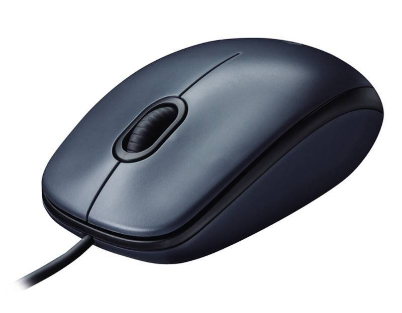 Logitech Wired Optical Mouse M100 Dark USB - Black