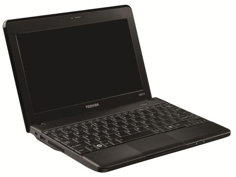 "Toshiba Nb510-11g Netbook, Intel Atom N2600 1.6ghz, 1gb Ram, 320gb Hdd, 10.1"" Led, Noopt, Intel Gma, Webcam 9hrs Battery, Black, Windows 7 Starter"