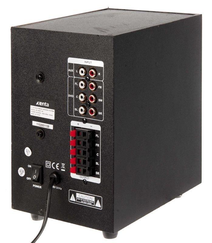 xenta 5 1 surround sound speaker system ebuyer. Black Bedroom Furniture Sets. Home Design Ideas