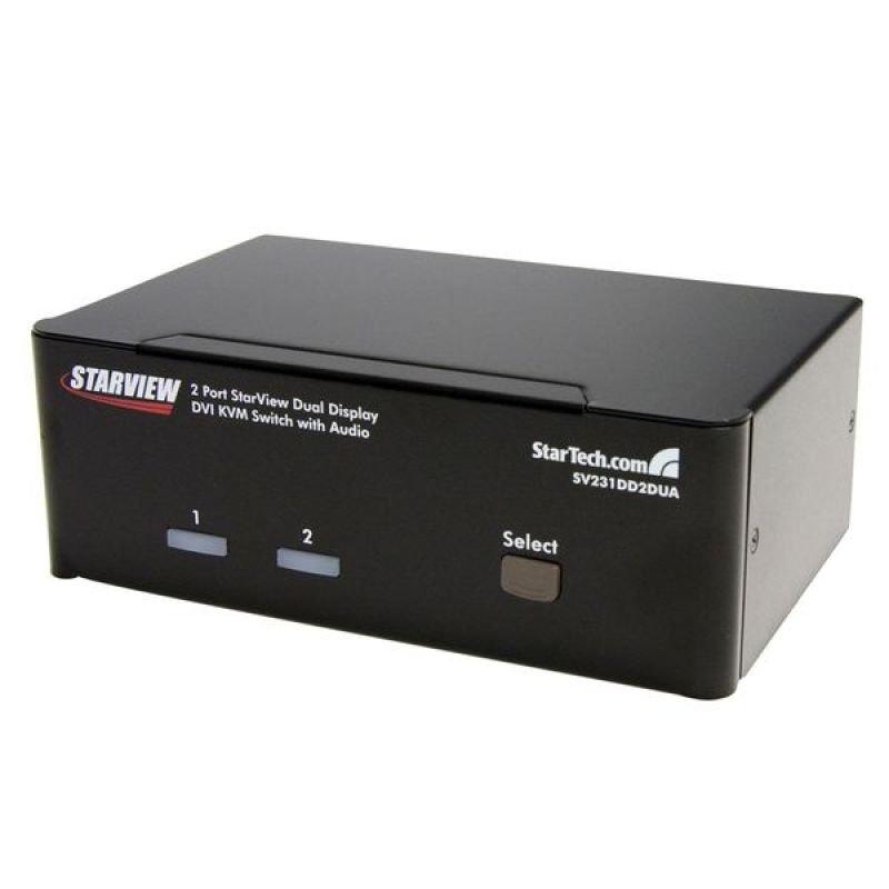 StarTech.com 2 Port DVI KVM Switch - Audio - Dual Monitor KVM Switch USB