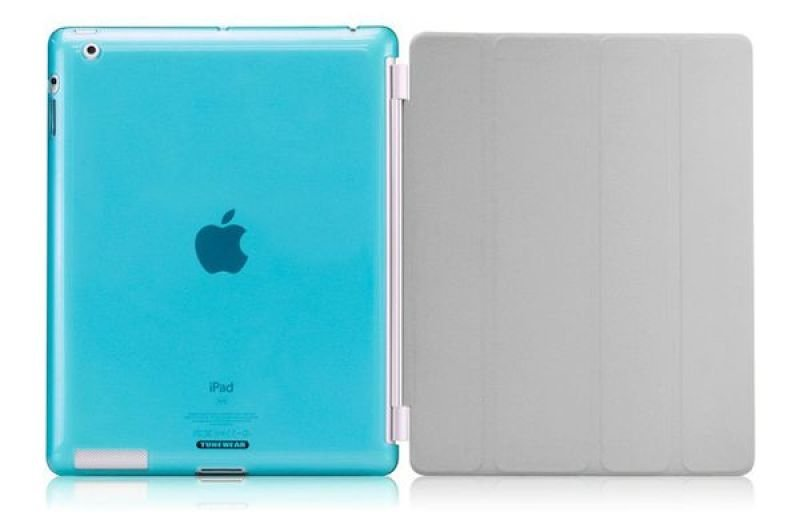 TUNEWEAR Softshell - Protective case for tablet - thermoplastic polyurethane - turquoise - for Apple iPad (3rd generation); iPad 2