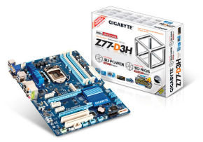 Gigabyte GA-Z77-D3H Socket 1155 VGA DVI HDMI 8 Channel Audio ATX Motherboard