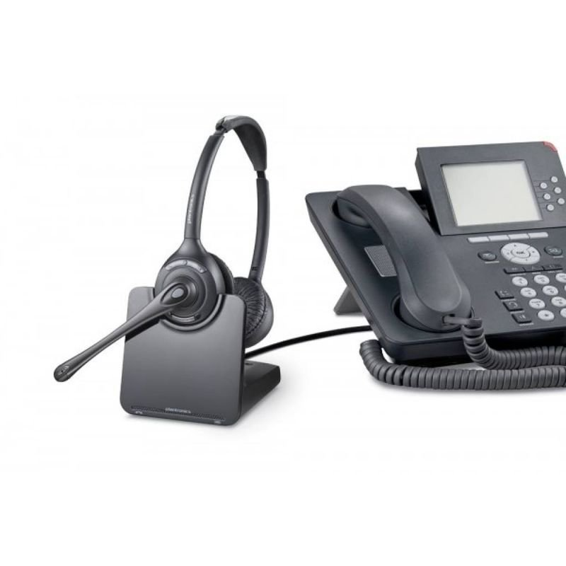 Plantronics Cs520 Wireless Binaural Dect Headset Ebuyer Com