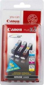 Canon CLI 521 Colour Ink Cartridges