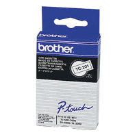 Brother P-Touch TC-201 Glossy Labels- Black on White