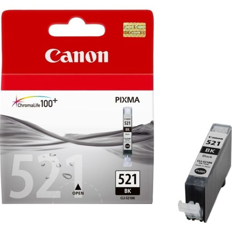 Canon CLI 521BK Black Ink Cartridge- Blister