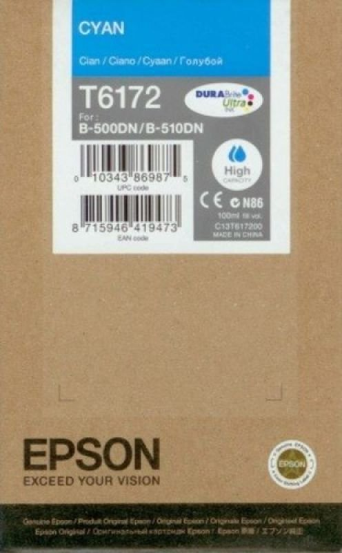 *Epson T6172 High Capacity Cyan Ink Cartridge