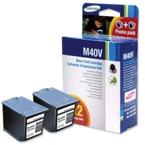 Samsung INK M40V Black Twin Pack Ink Cartridges
