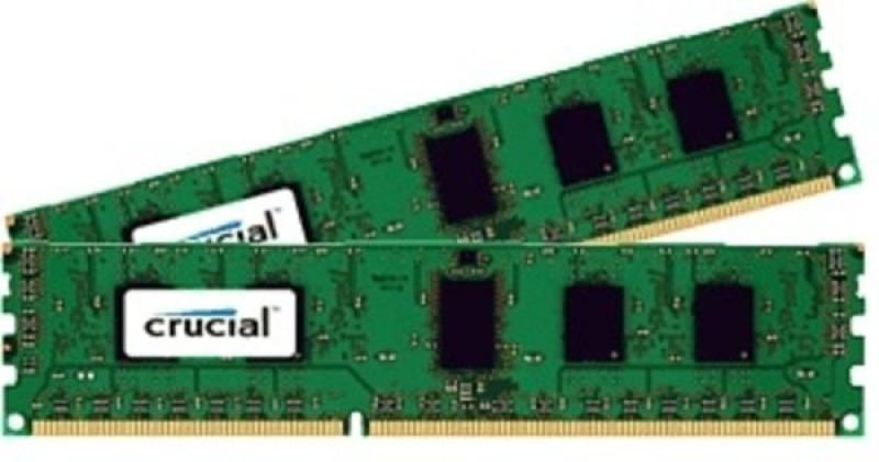 Crucial 2GB Kit (1GBx2) DDR3 1600MHz Mt/s (pc3-12800) Cl11 Unbuffered Udimm 240pin