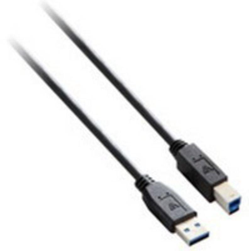 V7 USB 3.0 CABLE 1.8M A TO B - BLACK USB 3.0 M/M