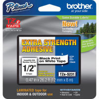 Brother TZe S231 Laminated extra strength adhesive tape- Black on White