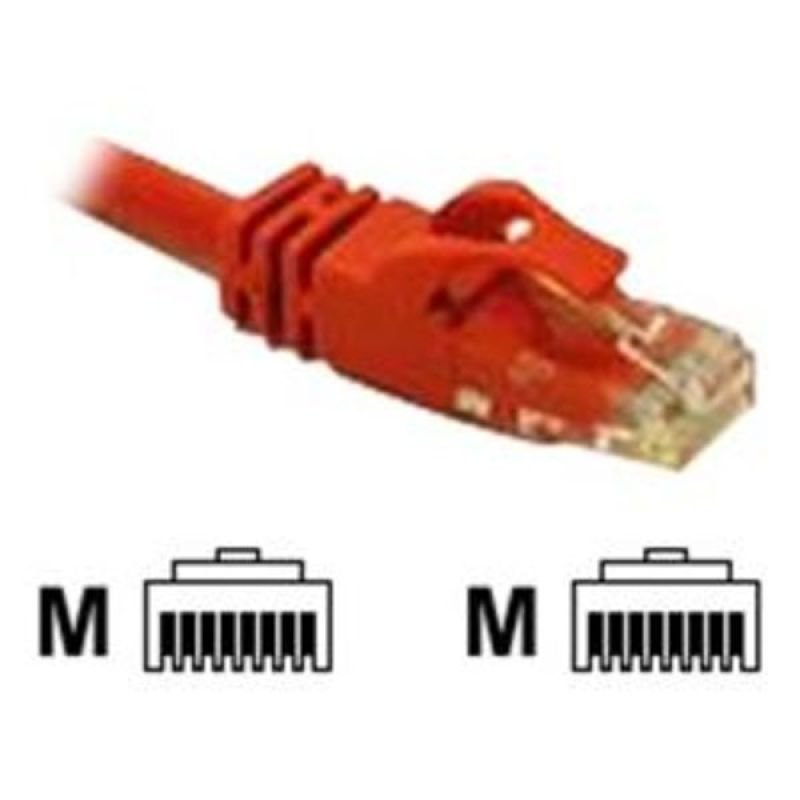C2G Cat6 Snagless CrossOver UTP Patch Cable Red 0.5M