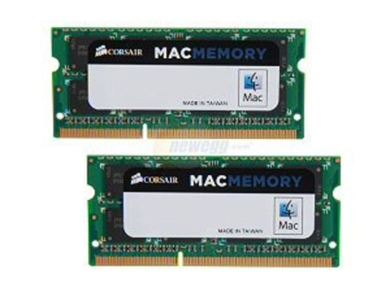 Image of Corsair DDR3 1600MHz 16GB 2x204 SODIMM Apple Qualified Unbuffered
