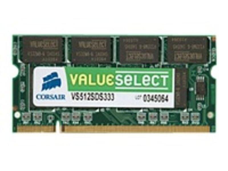 Image of Corsair 1GB DDR2 533MHz/PC2-4200 Laptop Memory Sodimm Non-ECC Unbuffered CL4 Lifetime Warranty