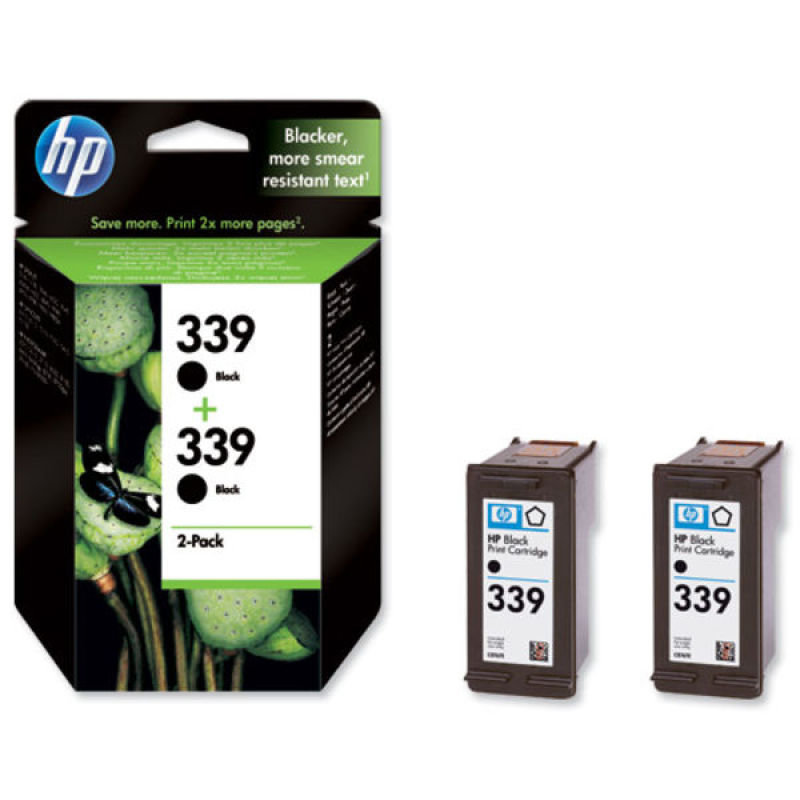 HP 339 Black Dual Pack Ink Cartridge  C9504EE