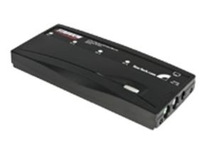 StarTech.com 4 Port Black PS/2 KVM Switch Kit with Cables - 4 Port PS2 KVM Switch - KVM Switch with Cables - VGA KVM Switch