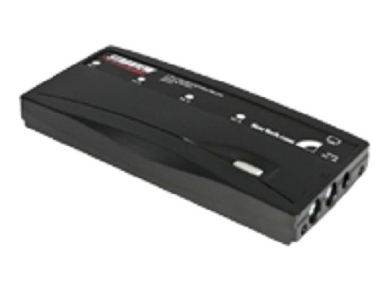 StarTech.com 4 Port Black PS/2 KVM Switch Kit with Cables - 4 Port PS2 KVM Switch - KVM Switch with Cables - VGA KVM Switch