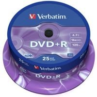 Verbatim 16x DVD+R Discs - 25 Pack Spindle