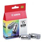 Canon BCI 15BK dual pack Black Ink Cartridge