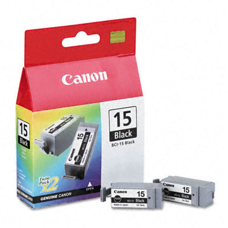Canon BCI 15BK dual pack Black Ink Cartridge