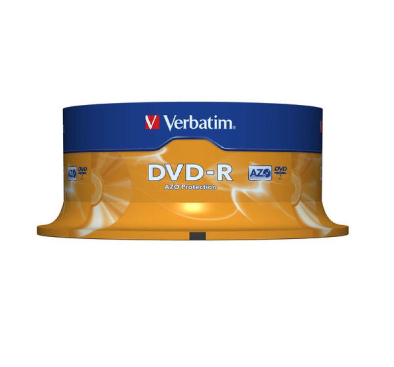 Verbatim 16x DVD-R Discs - 25 Pack Spindle