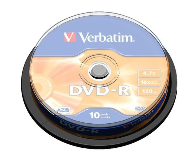 Verbatim 16x 4.7GB AdvAzo DVD-R - 10 Pack Spindle