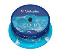 Verbatim 52x CD-R Discs - 25 Pack Spindle