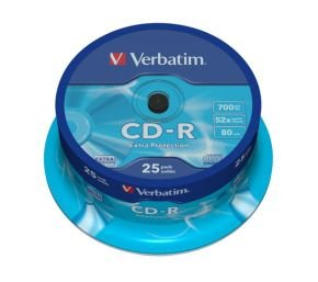 Verbatim 52x CD-R Discs - 25 Pack Spindle