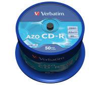 Verbatim AZO 52x 700MB CD-R Discs - 50 Pack Spindle