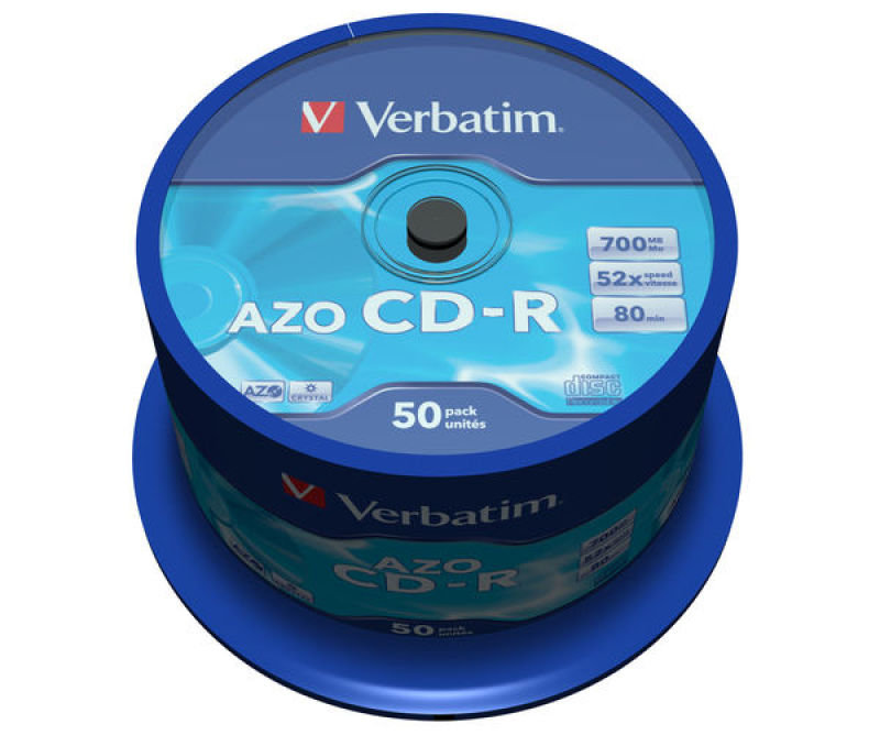 Verbatim AZO 52x 700MB CD-R Discs - 50 Pack Spindle