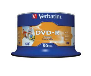 Verbatim 16x DVD-R Inkjet Printable Discs - 50 Pack
