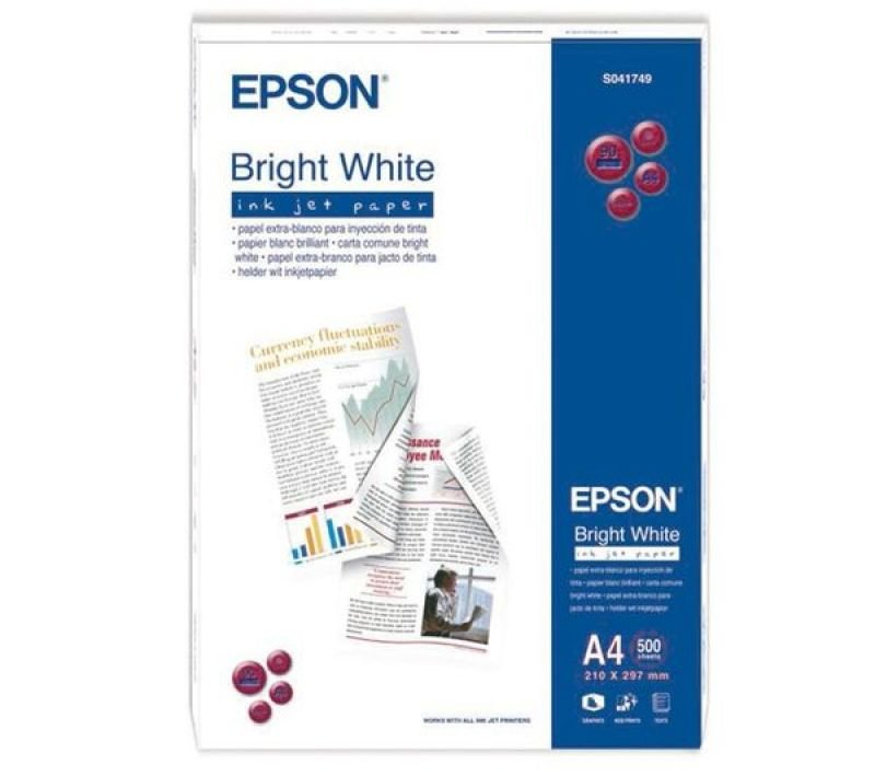 Epson Bright White A4 90gsm Plain Inkjet Paper - 500 Sheets