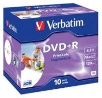 Verbatim 16x DVD+R Inkjet Printable Discs - 10 Pack