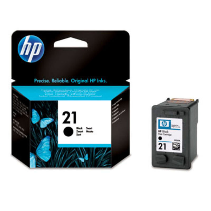 HP 21 Black Original Ink Cartridge - C9351AE