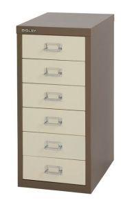 Bisley Non-Locking Multi-Drawer Cabinet 6 Drawer Coffee Cream