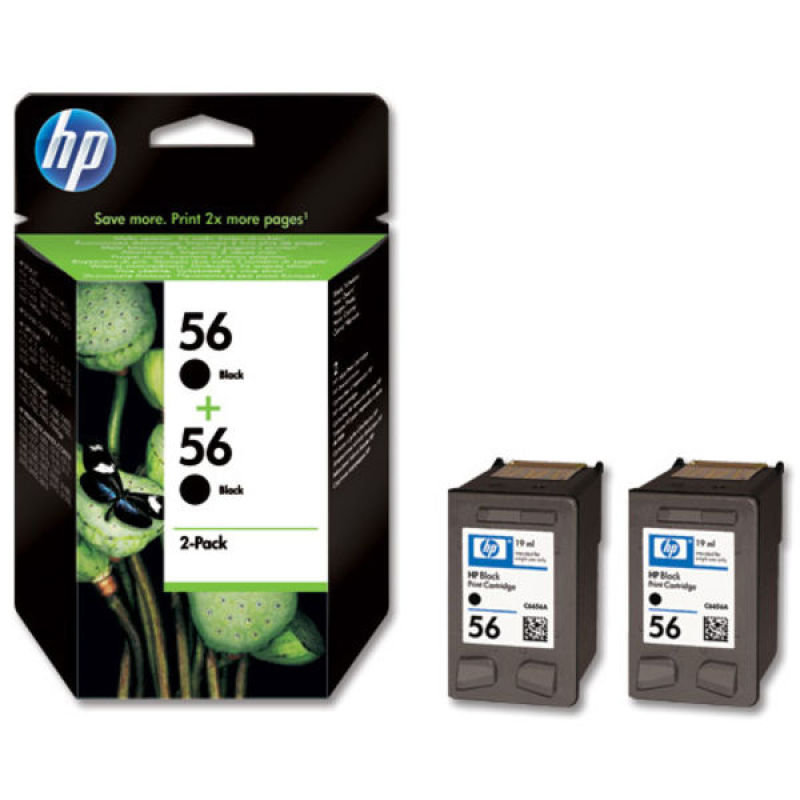 HP 56 Twin Black Ink Cartridge  C9502AE