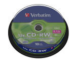 Verbatim 12x CD-RW Discs - 10 Pack Spindle